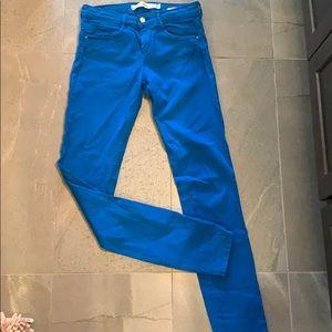 Zara Electric blue skinny stretch denim jeans